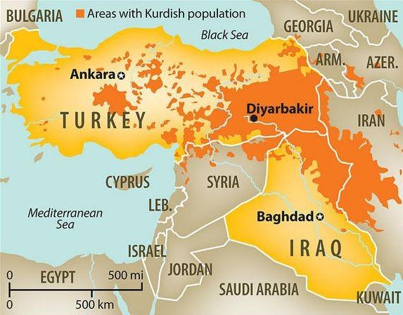 map kurds